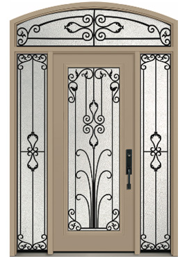 Door: A-865 (Classic) Sidelites: S-1065 (Direct Glaze) <br>Transom: TEC-1065 (Direct Glaze)