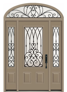 Door: D-790 (Classic) Sidelites: SD-790 (Classic) Transom: TEL-1090 (Direct Glaze)